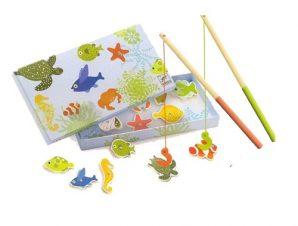 Djeco Ξύλινα μαγνητάκια Ψαρεύοντας τροπικά ψάρια
