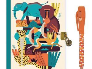 Djeco Ημερολόγιο με κλειδαριά και μαγικό μαρκαδόρο Ζώα Δάσους