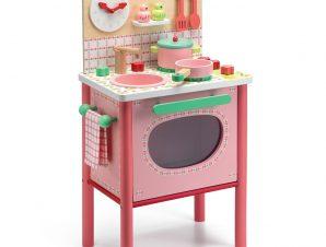 Djeco Ξύλινη Ψηλή ροζ κουζίνα