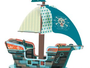 Djeco Τρισδιάστατο χάρτινο πειρατικό καράβι