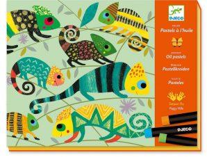 Djeco ζωφραφίζω με λαδοπαστέλ Ζούγκλα