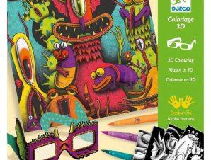 Djeco Ζωγραφική 3D Εφέ Αστεία Τερατάκια