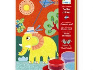Djeco Σχεδιάζω με χρωματιστή σκόνη Ελεφαντάκι
