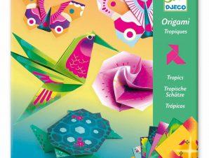 Djeco Οριγκάμι κατασκευή Τροπικά ζωάκια και λουλούδια