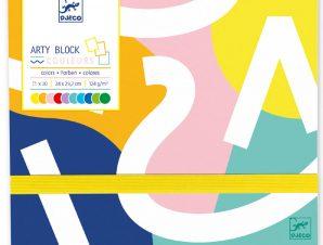 Djeco Μπλοκ ζωγραφικής με φάκελο με 30 Χρωματιστές σελίδες