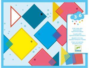 Djeco Κατασκευάζω με κολάζ Μαγικά Τετράγωνα