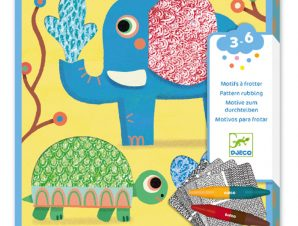 Design 3 to 6 years – Colouring Patterns to rub – Magalis friends