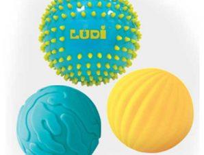 Ludi σετ 3 μεγάλες μπάλες αισθήσεων Μπλε 15 εκ.