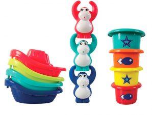 Ludi Σετ παιχνιδιού μπάνιου Βαρκούλες – Μαιμουδάκια – κυπελλάκια 11τεμ