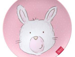 Sigikid Παιδικό πιάτο μελαμίνης Ροζ λαγουδάκι