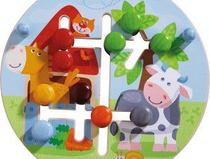 Haba Ξύλινο ταμπλό δεξιοτήτων και αναγνώρισης χρωμάτων Η φάρμα