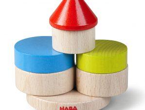 Haba παιχνίδι στοίβαξης με 10 ξύλινα τουβλάκια Πύργος ισορροπίας