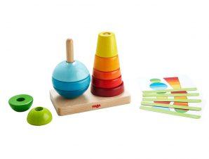Haba παιχνίδι στοίβαξης με καβύλιες Χρώματα – Σχήματα