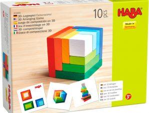 Haba 3D Ξύλινο παιχνίδι αντιγραφής Κύβος ουράνιο τόξο