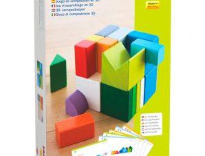Haba 3D Ξύλινο παιχνίδι αντιγραφής με τουβλάκια Χρώματα – σχήματα