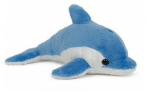Semo Λούτρινο softies δελφίνι, μπλε-λευκό 20 εκ.