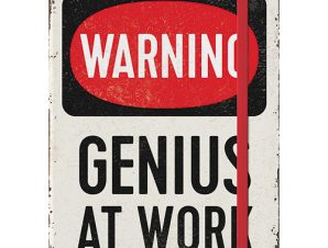 Nostalgic Σημειωματάριο Achtung Genius At Work