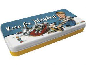Nostalgic μεταλλική μολυβοθήκη-κασετίνα Keep On Playing