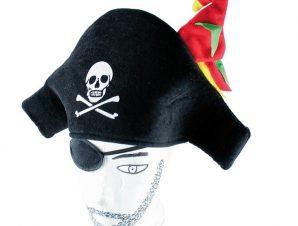 Καπέλο πειρατή με παπαγάλο