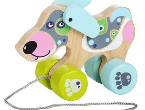 Cubika Ξύλινη Τρεχαλίτσα Γαλάζιο Σκυλάκι