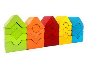 Cubika Ξύλινοι Μίνι 5 Πύργοι με μεταβαλλόμενες θέσεις 2D
