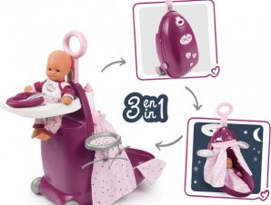 Smoby Baby Nurse Nursery Suitcase 3 In 1