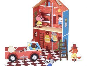 Krooom Κουκλόσπιτο σε βαλιτσάκι Πυροσβεστική