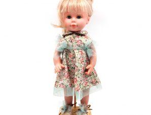 DNenes Κούκλα Βινυλίου Φόρεμα με λουλούδια 34 εκ.