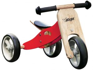 Zenit Τρίκυκλο ξύλινο ποδηλατάκι μετατρεπόμενο και σε δίκυκλο