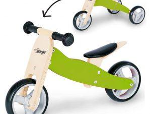 Zenit Ξύλινο Τρίκυκλο Ποδήλατο Πράσινο