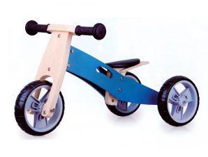 Zenit Ξύλινο Τρίκυκλο Ποδήλατο Μπλε