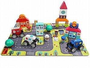 Τουβλάκια κατασκευών City Block Top Bright – 82 τεμ.