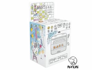 MoNumi BabyRun Παιδική Κουζίνα XXL Kitchen Cooker από 3D Λευκό Χαρτόνι Ζωγραφικής