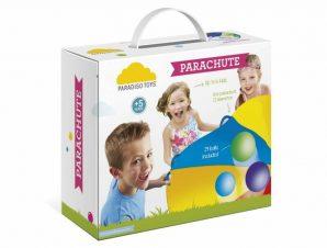 Paradiso Toys Αλεξίπτωτο Γυμναστικής-Ψυχοκινητικής διαμέτρου 250 εκ. με 6 λαβές και 24 Μπαλάκια
