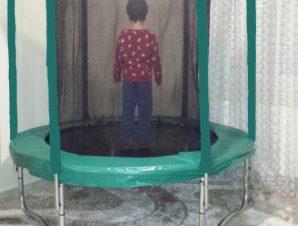 Asda Jumpking Τραμπολινο 1,83m με διχτυ ασφαλειας,Πρασινο Χρωμα